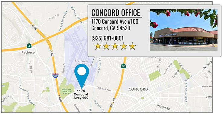 Martin Family Chiropractic Centers's Concord office location on google map