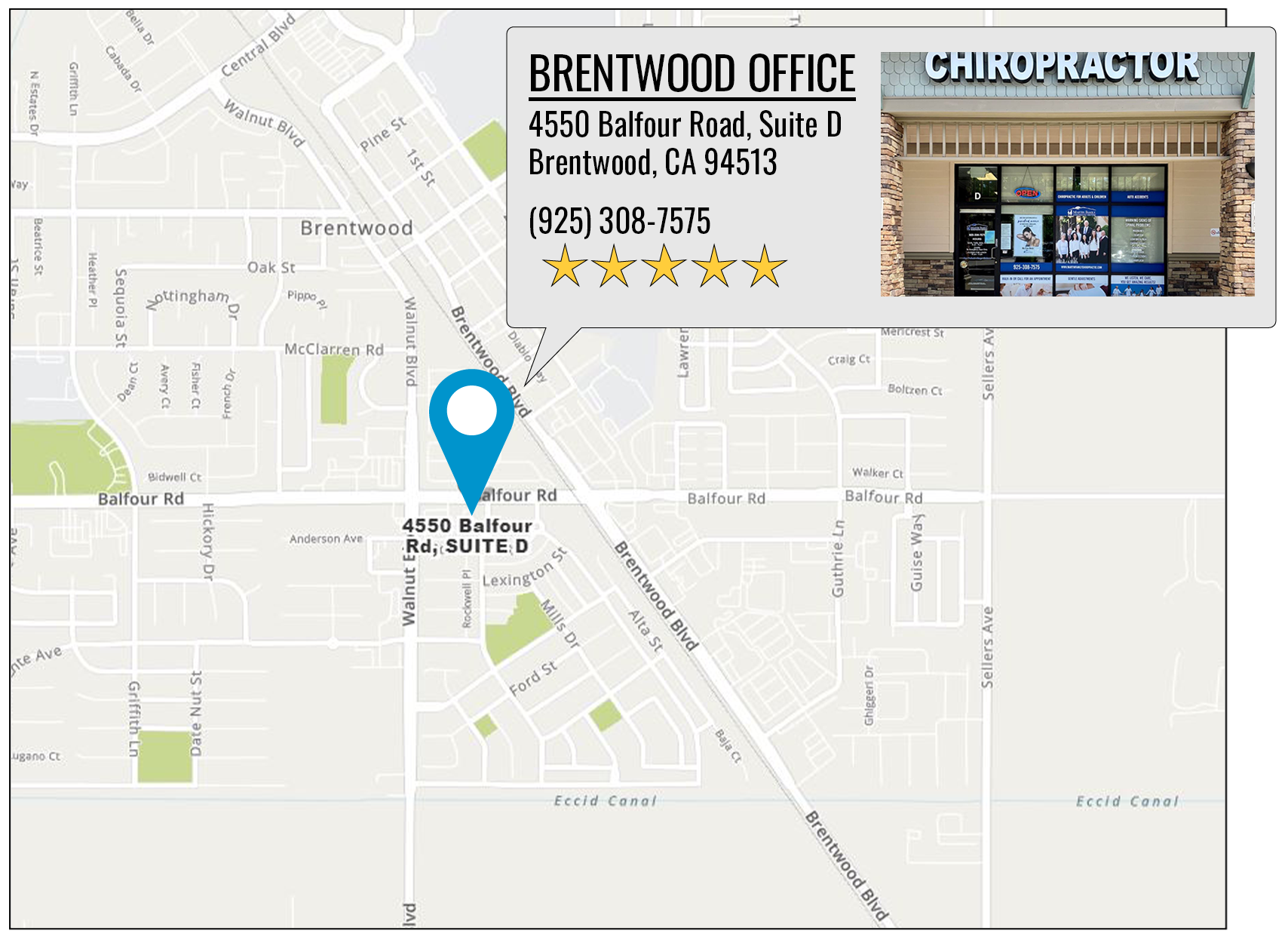 Martin Family Chiropractic Centers's location on google map