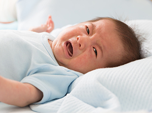 Baby suffering from colic